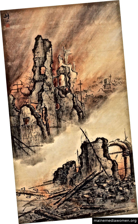 Wütende Flammen im Osten von Battlefield, 1932