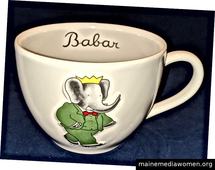 Babar 1991 die Elefant-Kaffeetasse