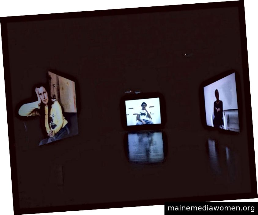 Sam Taylor-Wood 'Killing Time' 1994. Installation bei Tate Britain 2003. Foto: Sam Taylor-Wood