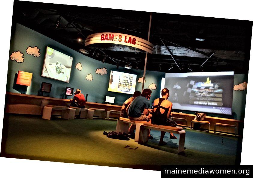 Games Lab bei ACMI. Foto: Lisainglasses