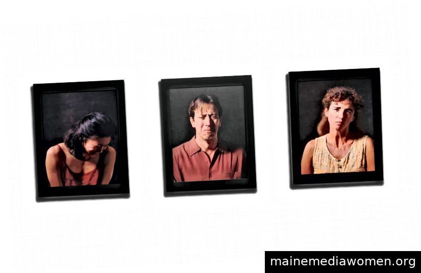 """Bill Viola, """"Anima"""", 2000. drei LCD-Flachbildschirme mit DVD-Wiedergabegerät Foto: Christies"""