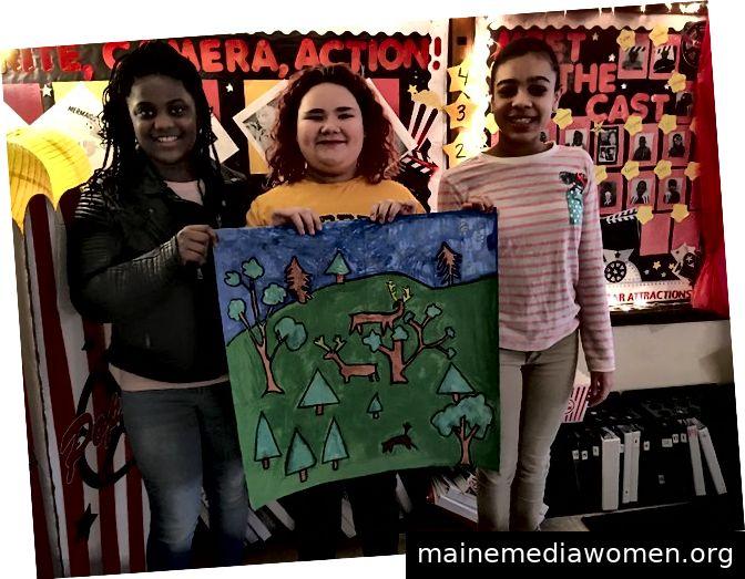 (Links) Zwei Schüler der South Carolina School für Blinde, Spartanburg, SC, arbeiten an ihrem Stück