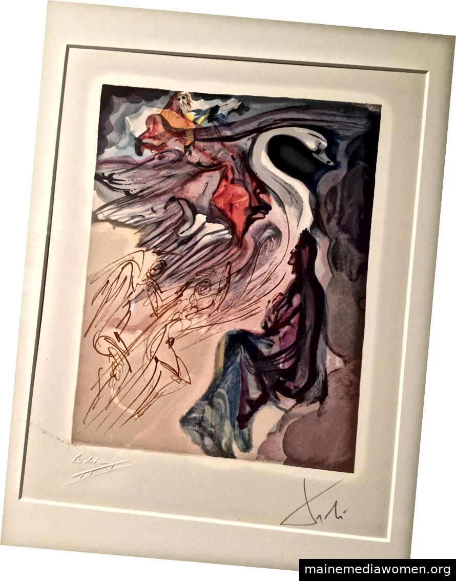 Salvador Dalí-Museum Oglethrope 2019 drucken Mappen von Comte De Lautréamonts Les Chants de Madoror und Dante Alighieris The Divine Comedy 1930-Sprache der Vögel (FO 130) PA 19