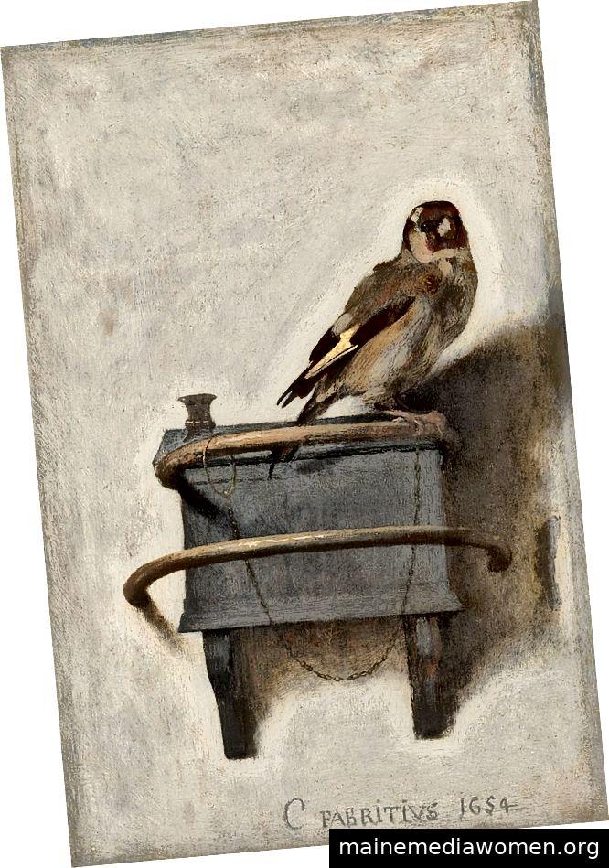 Carel Fabritius, Der Goldfinch, 1654, Mauritshuis, Den Haag, Niederlande