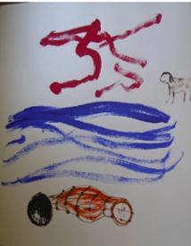 das Gemälde mit der rechten Hand