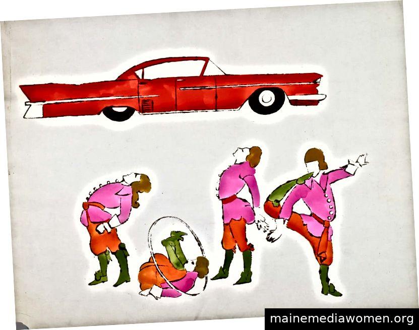 Vier männliche kostümierte Figuren, Andy Warhol Foundation für Visual Arts, Inc.