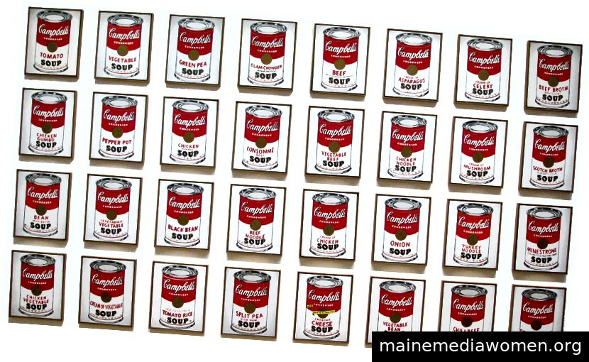 Campbells Suppendosen, 1962, Andy Warhol
