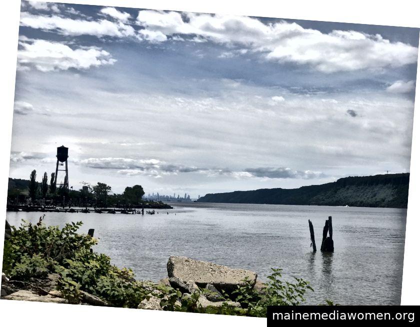 Der Hudson River nördlich von New York City