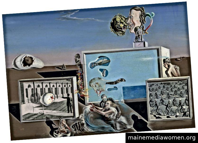 Illumined Dreams, das installierte Stück der Ausstellung Illumined Dreams Absurd Realities mit Salvador Dalis Werk. Foto: © The Museum of Modern Art, 2019