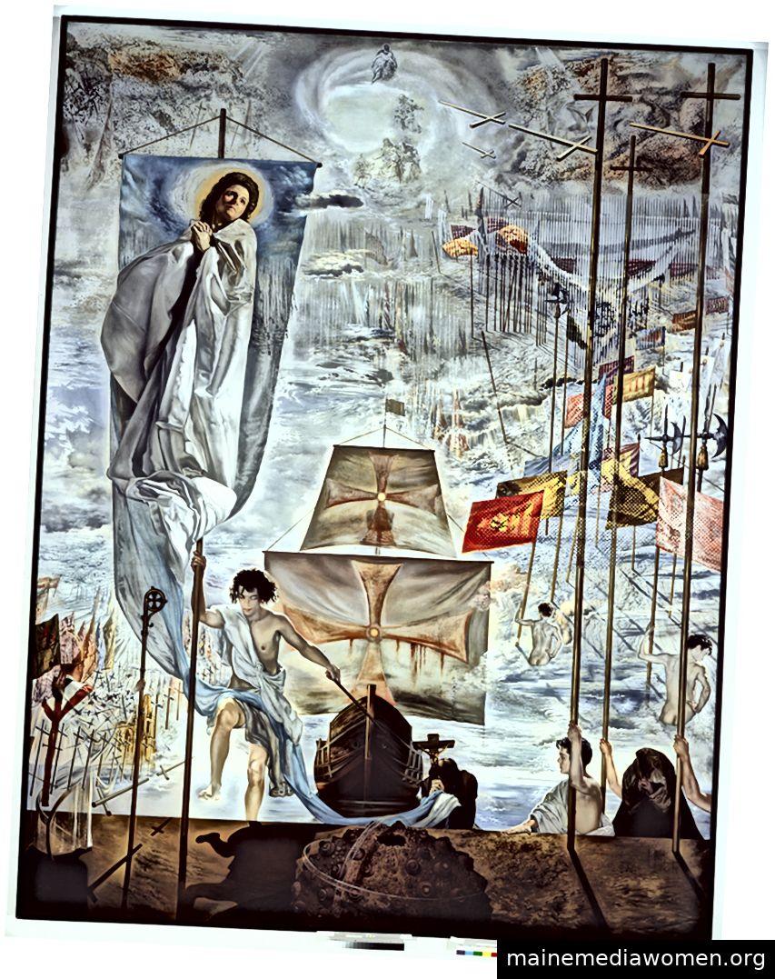 Die Entdeckung Amerikas von Christopher Columbus (1958-1959) spiegelt seine Besessenheit von Gala wider. Foto: © Museum of Modern Art, 2019