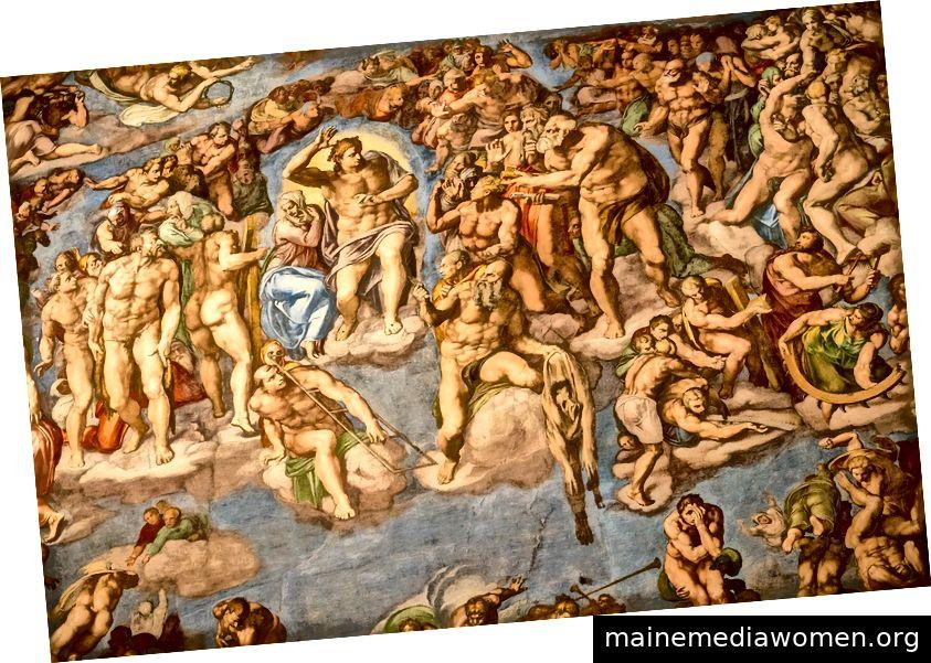 Das letzte Gericht - Michelangelo (Bildnachweis)