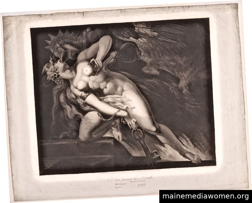 Sünde vom Tod verfolgt (John Milton, Paradise Lost, Buch II, 787, 790–792), Moses Haughton der Jüngere, 27. November 1804