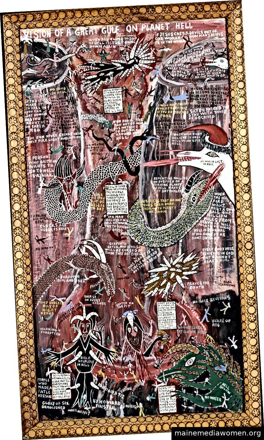 VISION EINES GROSSEN GOLFS AUF PLANETENHÖLLE, Howard Finster, 1980