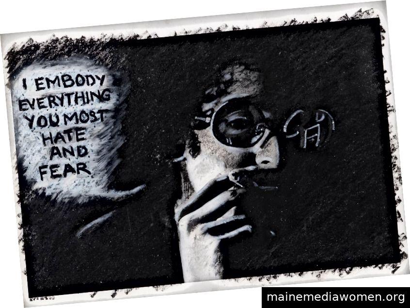 Adrian Piper, das mythische Wesen: Ich verkörpere alles, was Sie am meisten hassen und fürchten, 1975
