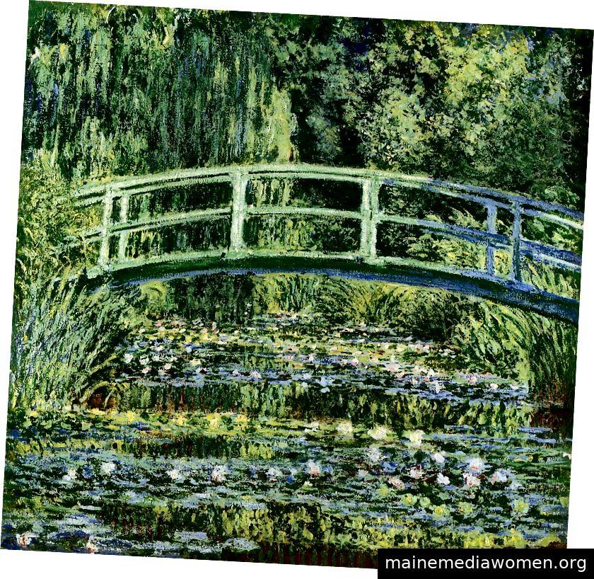 Seerosen und japanische Brücke von Claude Monet -