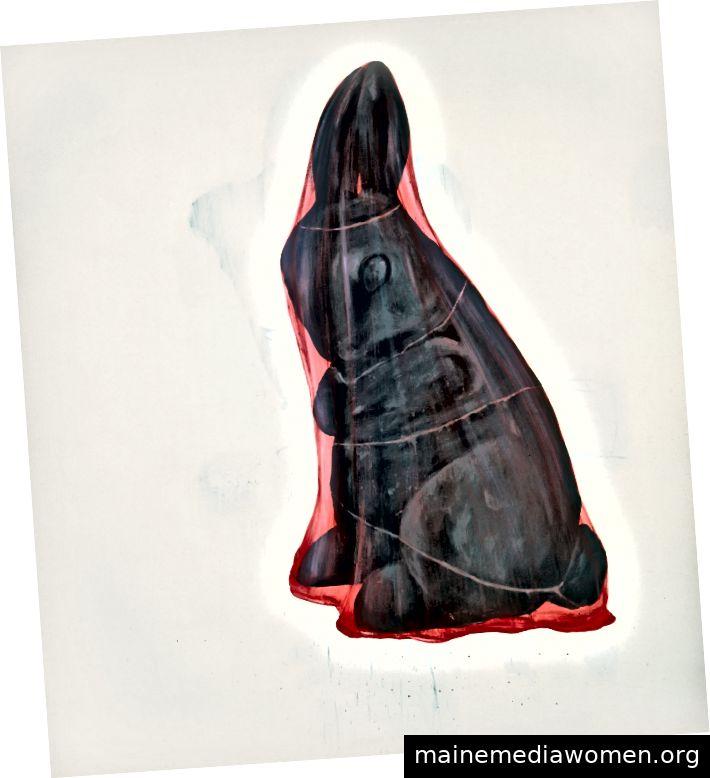 Enrique Martinez Celaya, Thing and Deception, 1997, Öl auf Leinwand, 96 x 84 Zoll