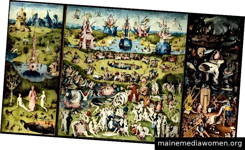 Der Garten der irdischen Freuden von Hieronymus Bosch, um 1500. (Public Domain)