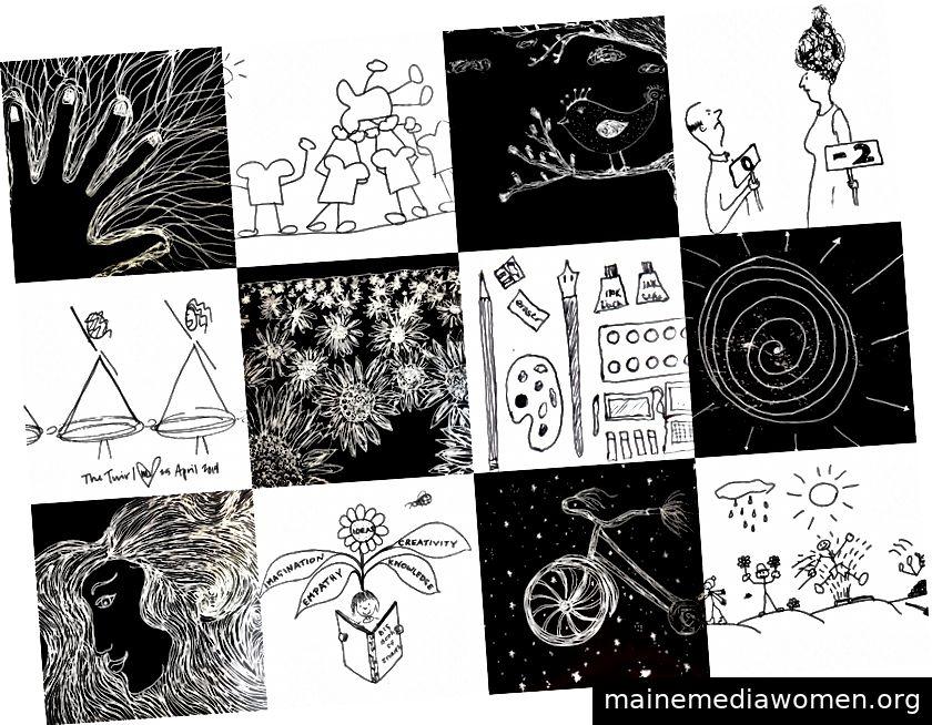 Grafik durch Suzanne LaGrande, Kennzeichen Starlin, Tracy Aston, Kristall Gillis und Lindsay Lonai Linegar | Collage erstellt von Lindsay