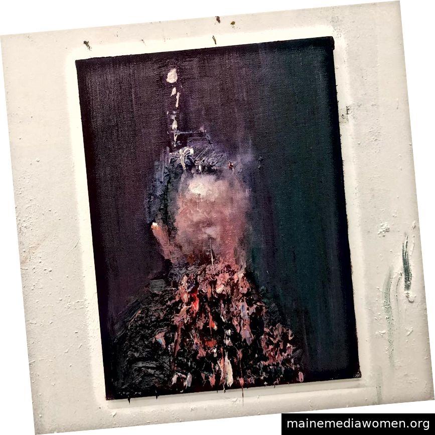 Gemälde von Alex Merritt in seinem Atelier