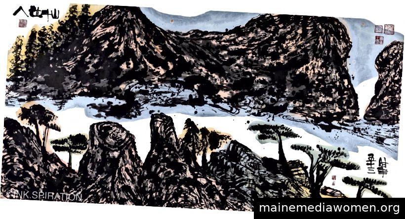 Spirituelle Berge (Nr. 745), 2011. 49 x 96