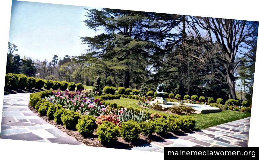 Reynolda Gärten sind frei zu besuchen.
