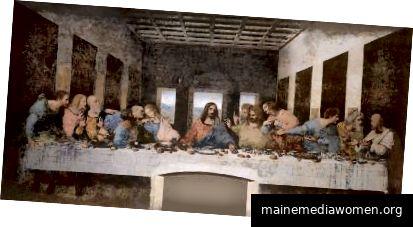 Da Vincis Abendmahl in Mailand nach der Restaurierung - Public Domain von Wikipedia