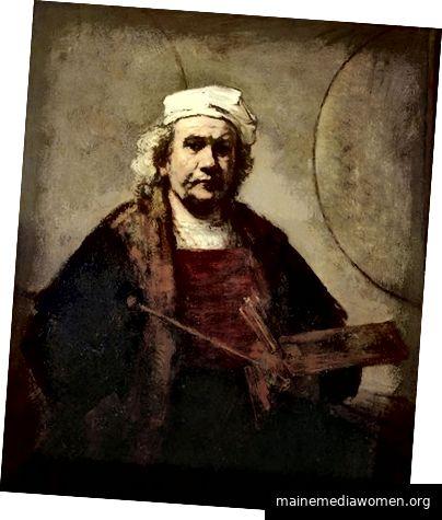 Rembrandt-Selbstbildnis mit zwei Kreisen (Wikipedia)