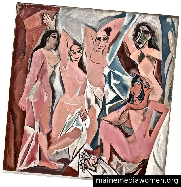 Les Demoiselles d'Avignon von Pablo Picasso, 1913