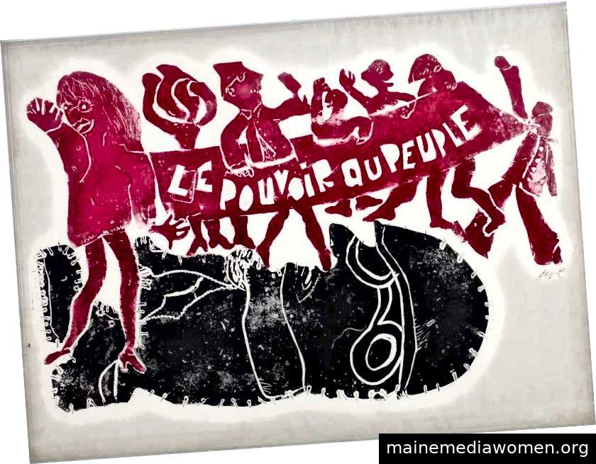 """Jacqueline de Jong // """"Le Pouvoir au Peuple"""" // 1968"""