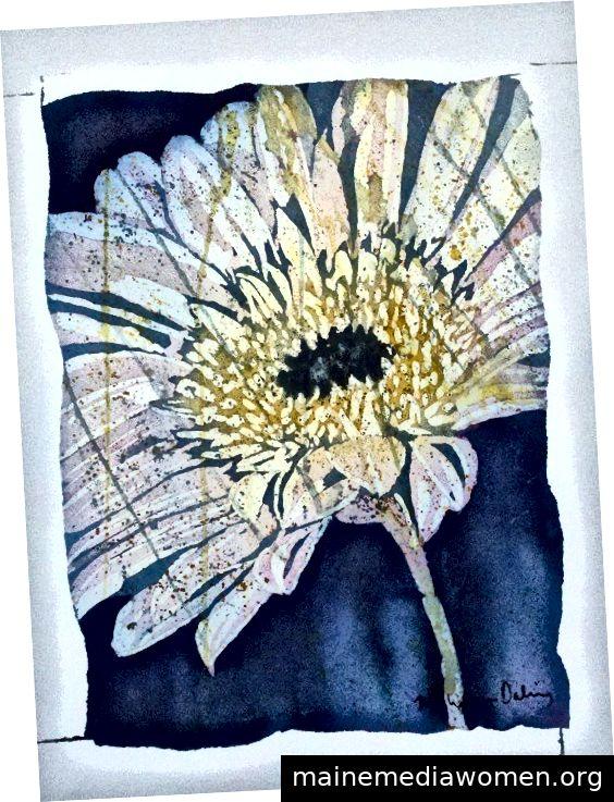 Kates Gänseblümchen - Aquarell auf Papier - Copyright 2012