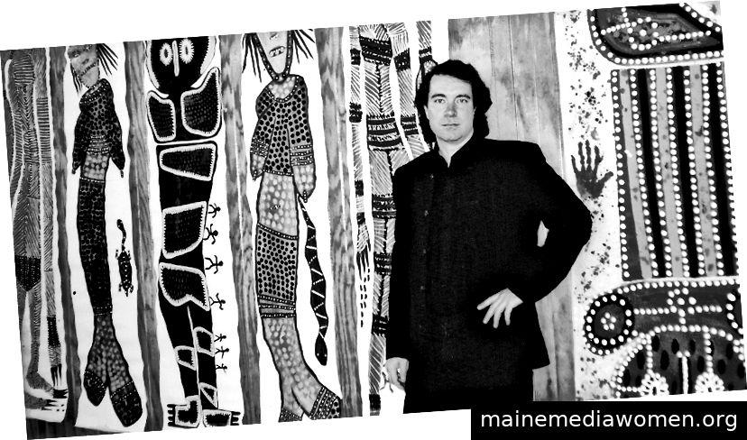 Gerry Joe Weise auf der Earth Spirit Ausstellung in Frankreich.