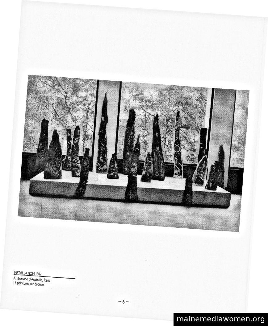 Gerry Joe Weise, Retrospektive Transmythic Earth, Australische Botschaft, Paris, 1987.