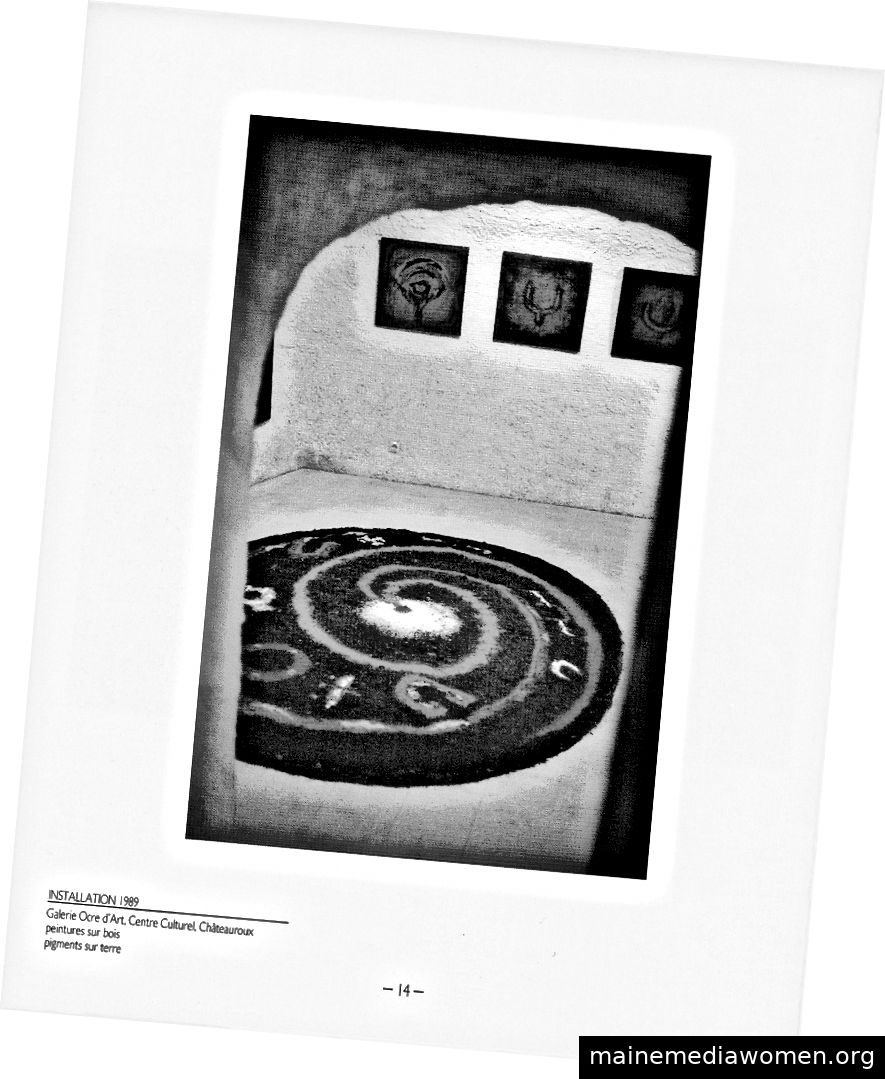 Gerry Joe Weise, Ground Painting, Kulturzentrum, Chateauroux, 1989.
