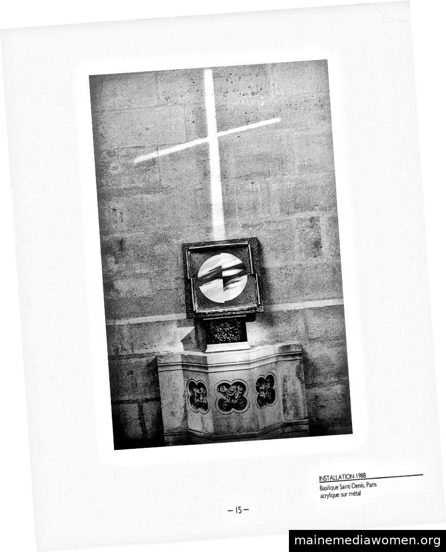 Gerry Joe Weise, Heilige Installation, Saint Denis Basilica, Paris, 1988.
