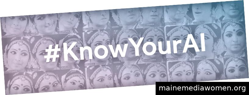 Bilder von Gesichtern: Eine Tänzerin, die den Navarasa darstellt (neun Emotionen), Quelle: shakti-e.monsite.com.