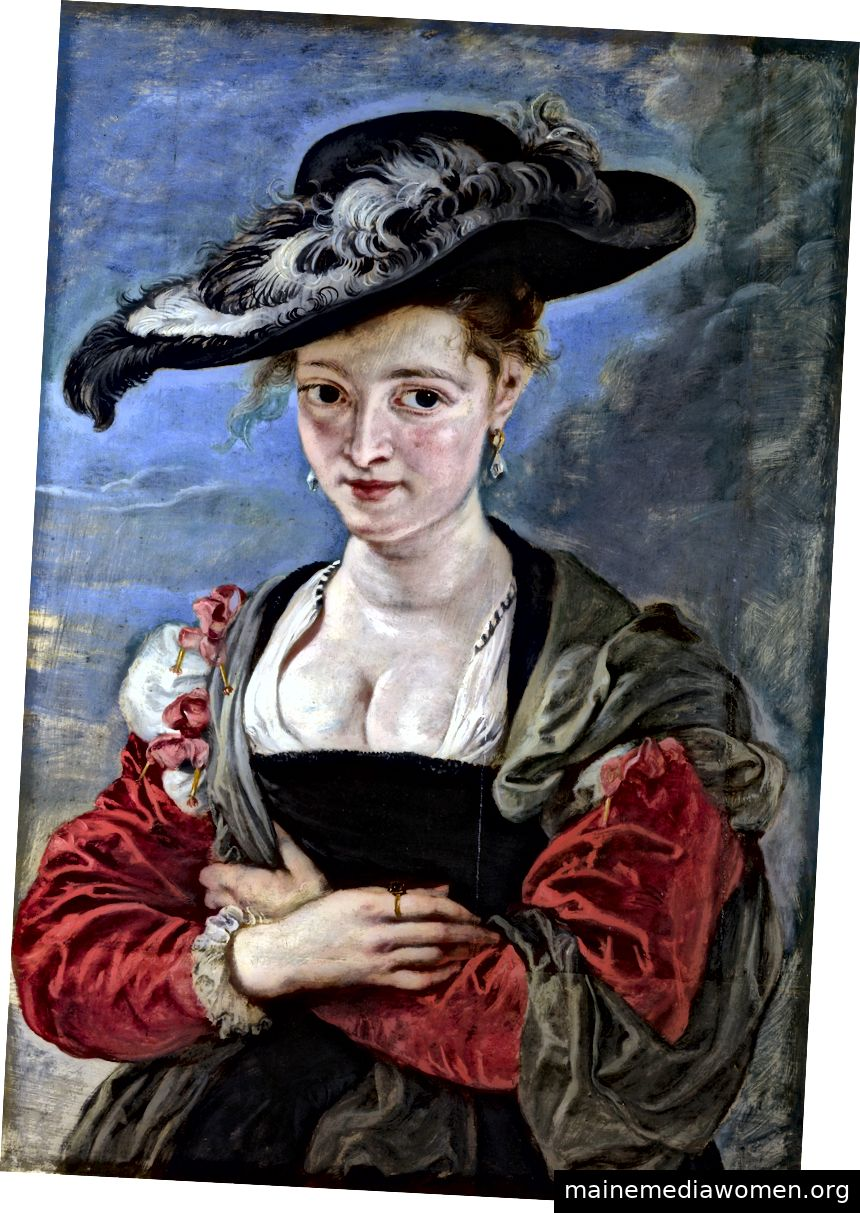 """""""Le Chapeau de Paille"""" von Peter Paul Rubens, wahrscheinlich 1622–15. Mit freundlicher Genehmigung von Wikimedia und der National Gallery, London."""
