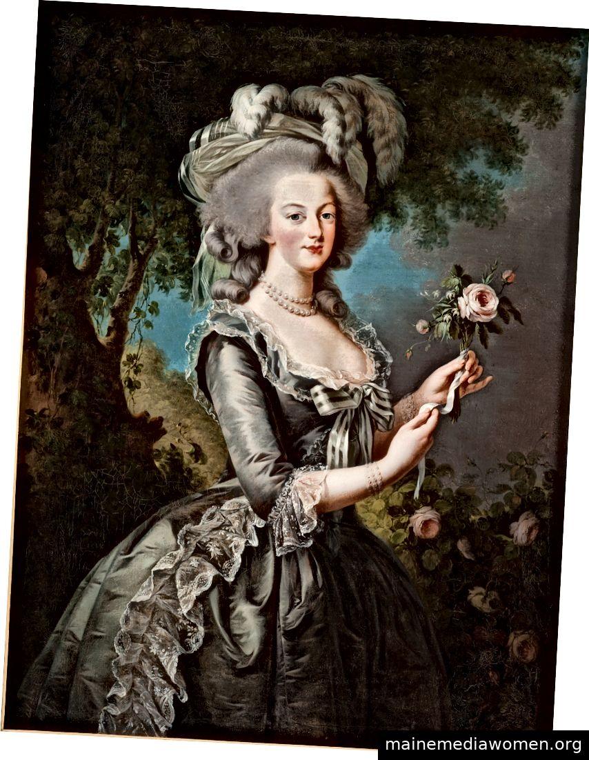"""Élisabeth Louise Vigée Le Bruns Porträt """"Marie-Antoinette mit einer Rose"""", 1783, mit freundlicher Genehmigung von Lynda und Stuart Resnick sowie des Metropolitan Museum of Art."""
