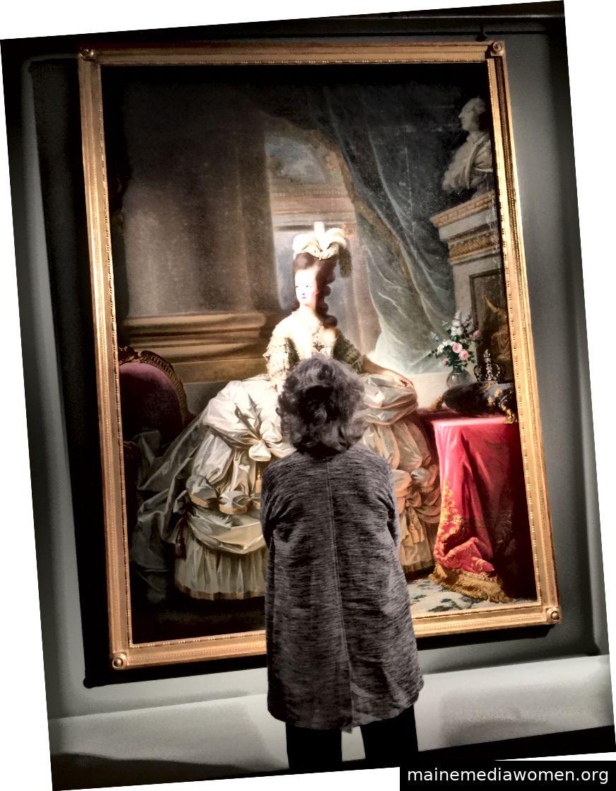 Die Größe des ersten von Marie-Antoinette gemalten Porträts Vigée Le Brun soll für die Künstlerin eine Herausforderung gewesen sein, da sie zum ersten Mal etwas in dieser Größenordnung gemalt hat. Bild © Saxon Henry.