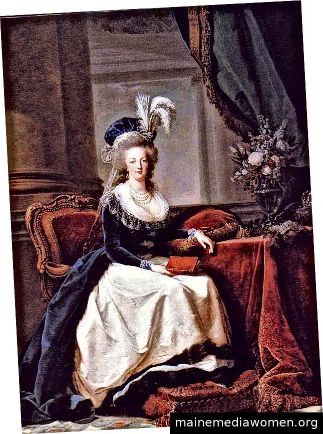 Sitzende Marie-Antoinette, gemalt von Élisabeth Louise Vigée Le Brun. Mit freundlicher Genehmigung des New Orleans Museum of Art.