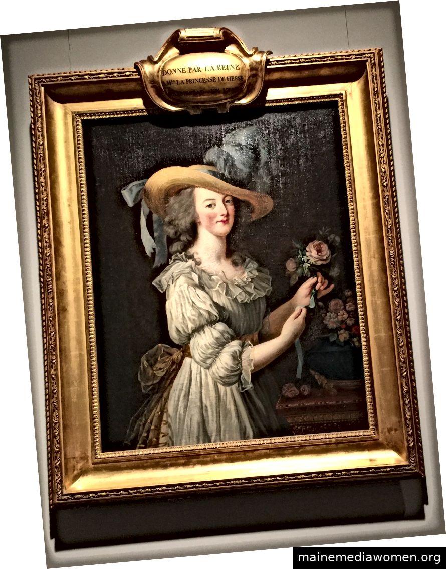 Marie-Antoinette in einem Musselin-Hemd, gemalt von Élisabeth Louise Vigée Le Brun, im MET hängend. Bild © Saxon Henry.
