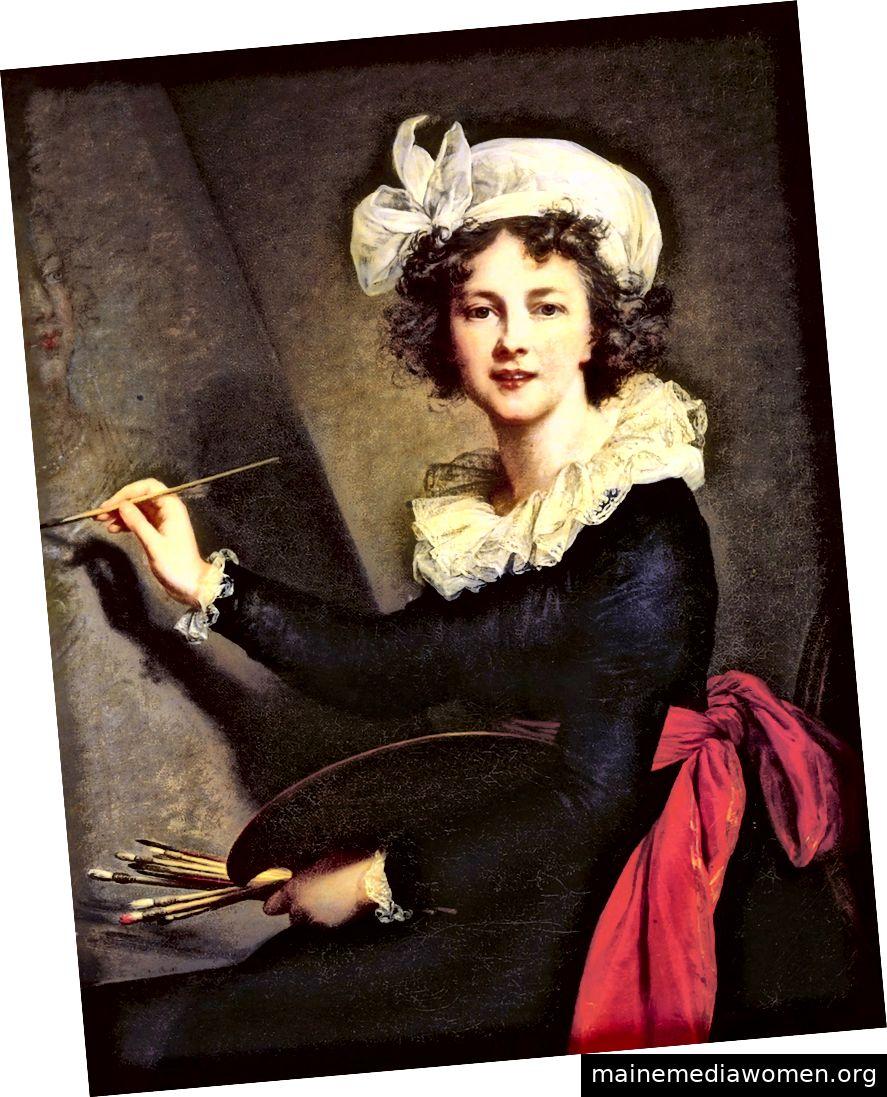 Selbstporträt, Élisabeth Louise Vigée Le Brun, 1790, untergebracht in den Uffizien in Florenz. Mit freundlicher Genehmigung des Metropolitan Museum of Art.