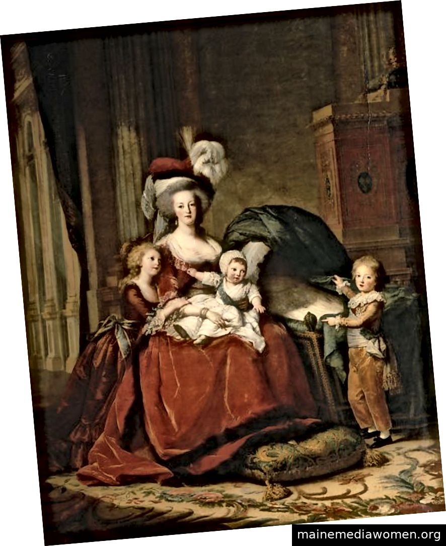 Marie-Antoinette und ihre Kinder gemalt von Élisabeth Louise Vigée Le Brun. Bild mit freundlicher Genehmigung von MET Museum.