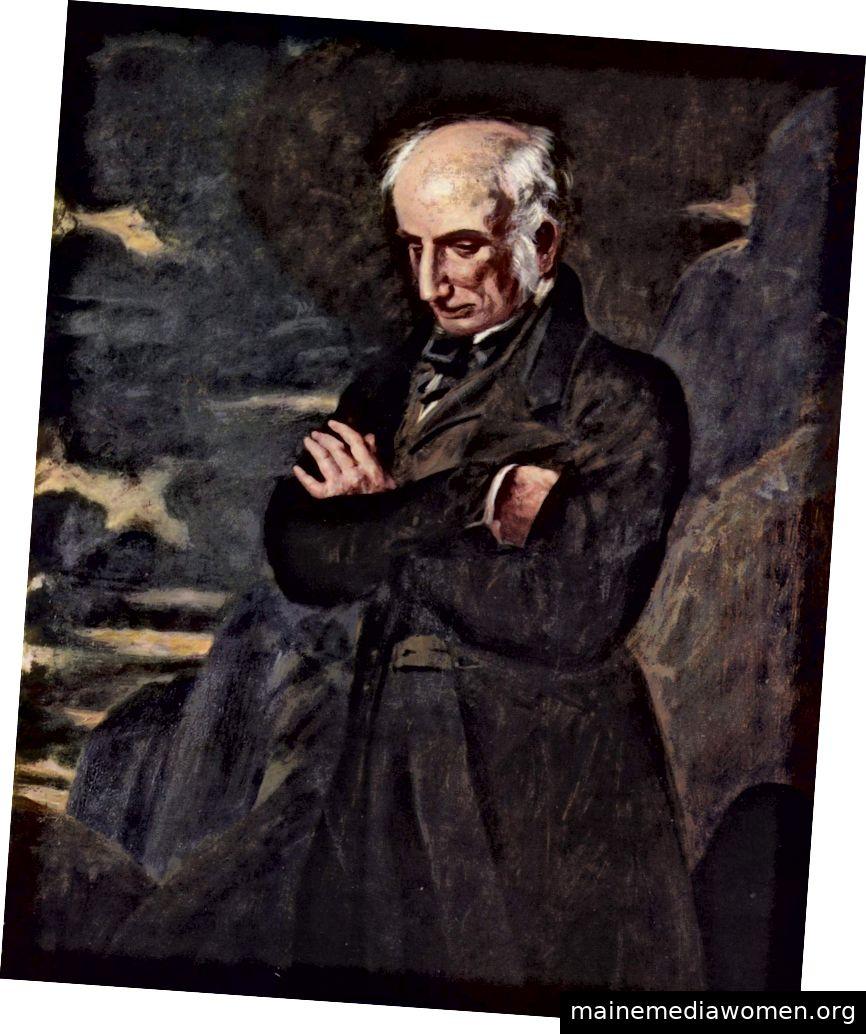 William Wordsworth, der ein bisschen bedrückt aussieht, muss gesagt werden. Bild: Wikicommons