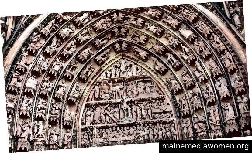 Kathedrale in Frankreich etwas alt