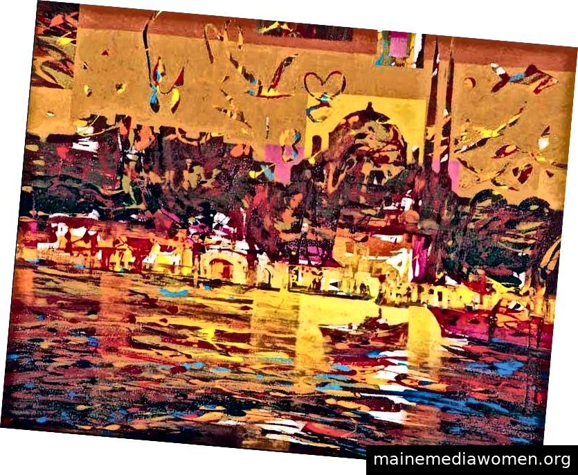 Kuzays Gemälde sind typisch lebendig und voller Energie.