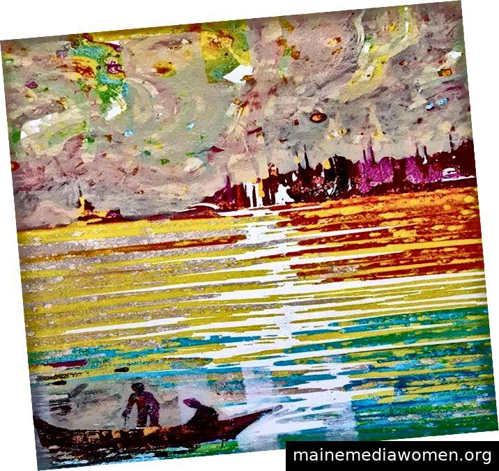 Viele seiner Arbeiten zeigen Aspekte des Stadtlebens in Istanbul.