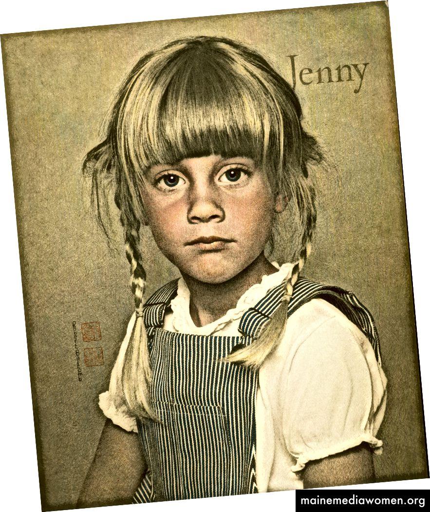 Jenny in Pigtails von Robert Balcomb, William Mortensens bester Schüler. Von Hand auf Fotopapier gedreht. Kein Photoshop.