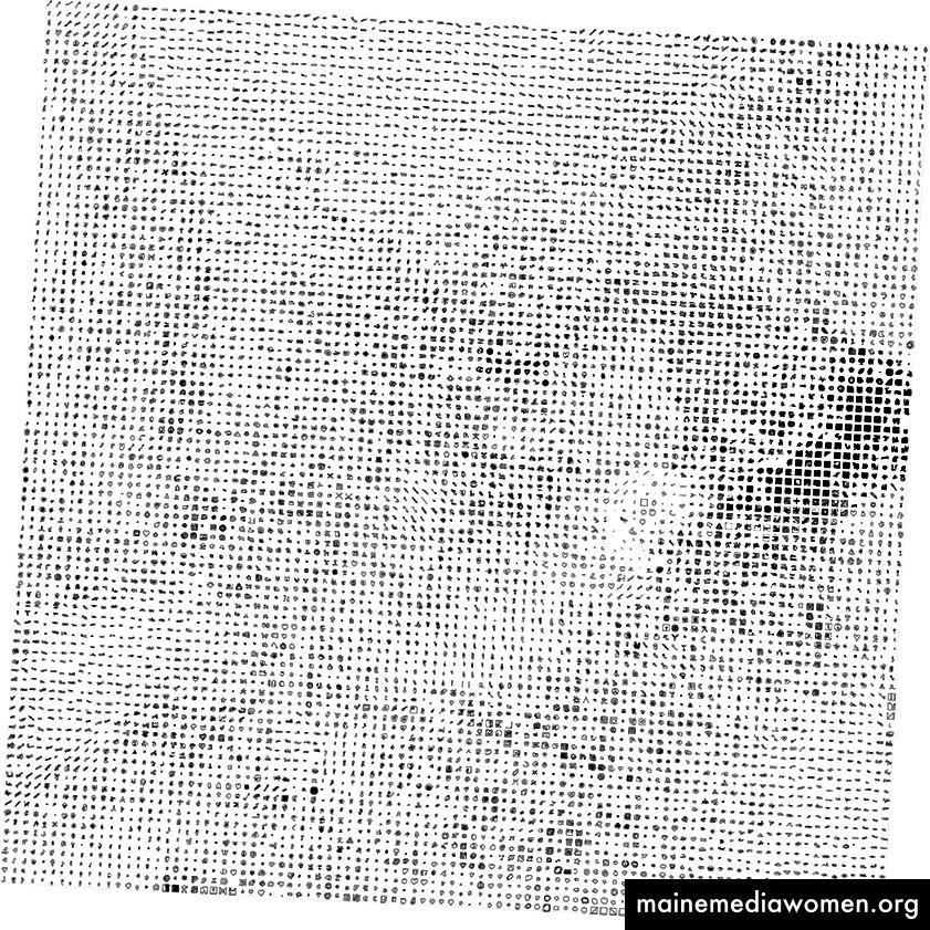 Über achttausend Zeichnungen trugen zu Moon Drawings von Golan Levin und David Newbury bei (größere Version hier).