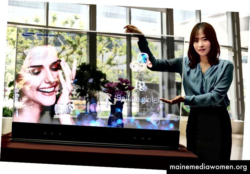 Samsungs transparente OLED - Quelle