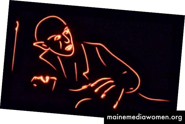 Beispiel eines mit einem Laserprojektor gezeichneten Bildes - Quelle